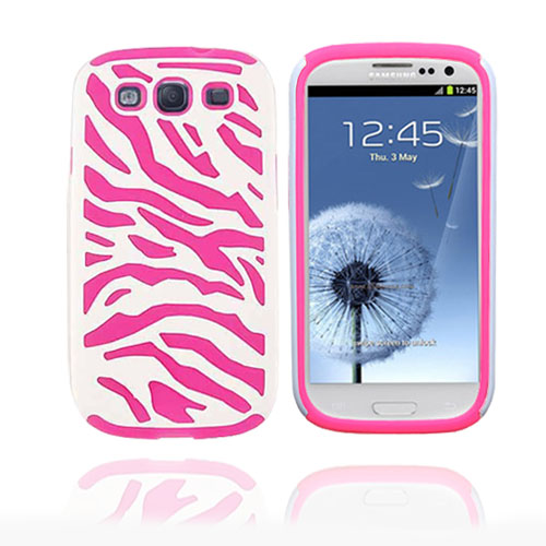 Pink-white Zebra case