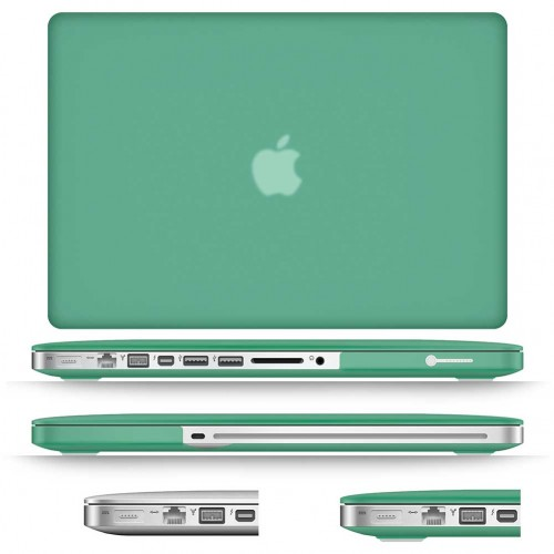 best website d5ef6 2496a Rubberized Hard Case for Macbook Pro® 13 with Screen Protector Ocean Green