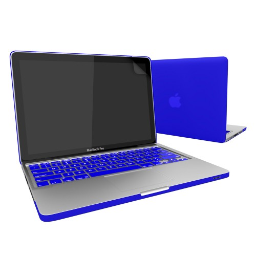 Rubberized Hard Case for Macbook Pro® 13 with Screen Protector Blue