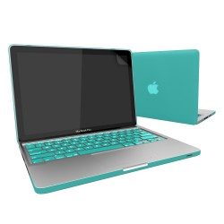 Rubberized Hard Case Screen Guard for MacBook Pro® 13 Tiffany Blue