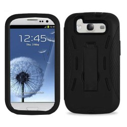 black hard case cover with kickstand for SAMSUNG Galaxy s©3