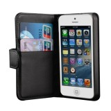 Leather Wallet Case for Apple® iPhone® 5 5s Black