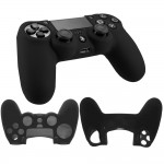 Soft silicone gel case for Sony® PS4™ Playstation Gaming controller Black