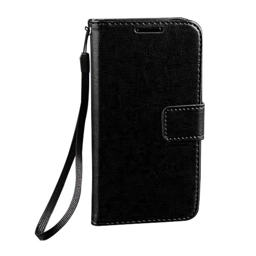 Luxury Flip PU Leather Wallet Case For Samsung Galaxy S©4 Mini Black