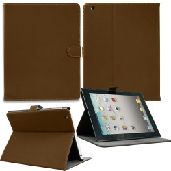 Luxury Leather Smart Case for Apple ipad mini Brown
