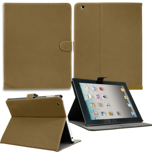 Luxury Leather Smart Case for Apple ipad mini - Light Brown