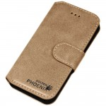 Genuine Leather Wallet Case For Apple® iPhone® 5 5S Camel Brown