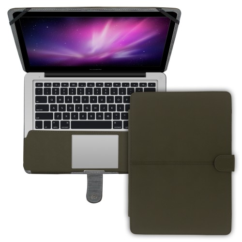 "Premium Suede Leather Clip On Folio Case for MacBook Pro 13"""" (A1278) - Pink"
