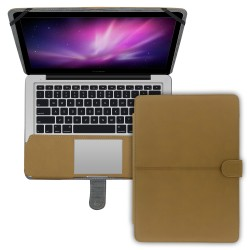 "Premium Suede Leather Clip On Folio Case for MacBook Pro 13"""" (A1278) - Blue"