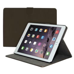 Premium Suede Leather Smart Stand Folio Case for Apple iPad Air-2 - Coffee