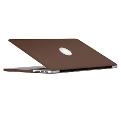 "Leatherette Case With Keyboard Cover for Macbook Pro 13"" Retina - Brown"