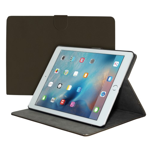 "Premium Suede Leather Smart Stand Folio Case for Apple iPad Pro 12.9"""" - Coffee"