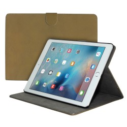 "Premium Suede Leather Smart Stand Folio Case for Apple iPad Pro 12.9"""" - Light Brown"