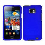 blue rubberized hard case cover for SAMSUNG Galaxy s© 2