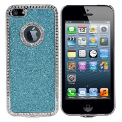 Luxury Hard Rhinestone Case for Apple® iPhone® 5 5s Blue