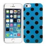 Crystal Hard Polka Dots Case for apple® iPhone® 5 5s Blue Black