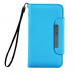 Light Blue Folio Leather Wallet Case Cover For Samsung Galaxy S©4