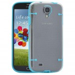 Hybrid TPU Case For Samsung Galaxy S©4 Blue Clear