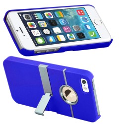 Aluminum Chrome Hard Stand Case For Apple® iPhone® 5 5S Blue