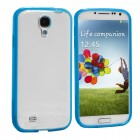 Hybrid Slim Soft Bumper Gel Case For Samsung Galaxy S©4 Blue