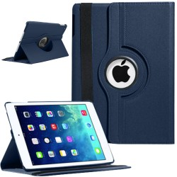 Rotating Magnetic Leather Smart case for iPad® Air Blue