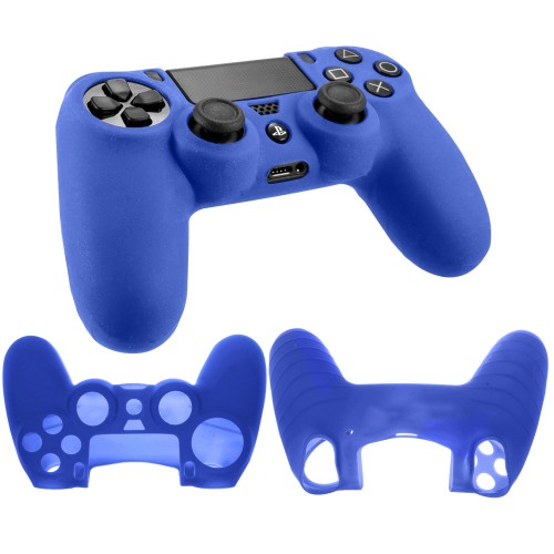 Soft silicone gel case for Sony® PS4™ Playstation Gaming controller blue