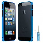 Ultra Thin Aluminum Metal Bumper Case For iPhone 5 5S Blue