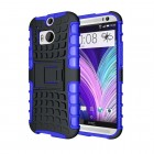 Rugged Hybrid Kickstand Case for HTC® One M8 Blue