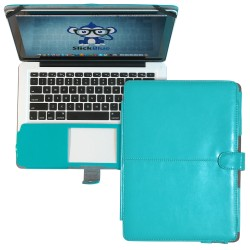 "Premium PU Leather Clip On Folio Case for MacBook Pro 13"" (A1278) - Blue"