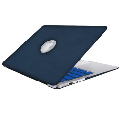 Leatherette Case With Keyboard Cover for Macbook Air 13 inch - Blue