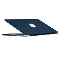 "Leatherette Case with Keyboard Cover for Macbook Pro 13"" Retina - Blue"