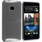 TPU Hard Gel Skin Case for HTC® One M7 clear
