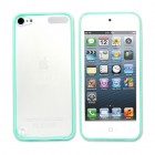 Tea Green Rubberized Hard Transparent Back Case Cover For Apple® iPod Touch® 5