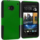 Rubberized Hard Soft Case Cover for htc® one M7 Green black