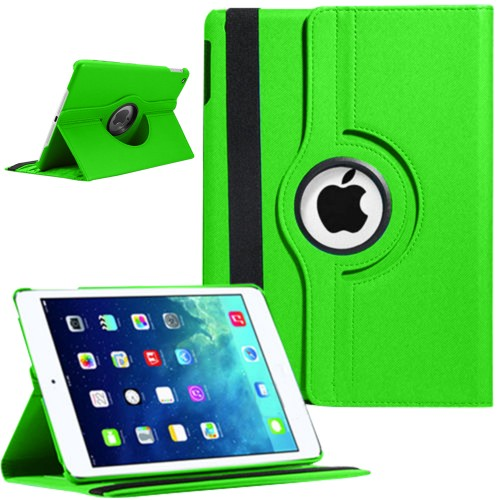 Rotating Magnetic Leather Smart case for iPad® Air Green