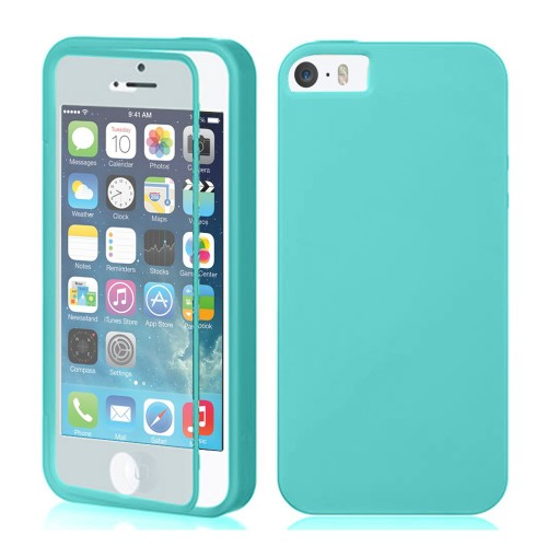 TPU Wrap Up Case for iPhone® 5S 5 with Built In Screen Protector Teal