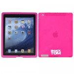 rubberized silicone case cover for apple® iPad®3 iPad®4 hot pink