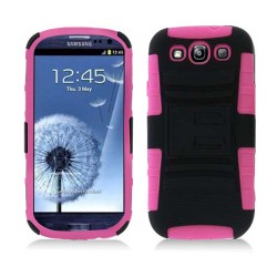 Pink Black Kickstand Case Cover For Samsung Galaxy S©3