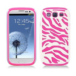 pink white hard case cover for SAMSUNG Galaxy s©3