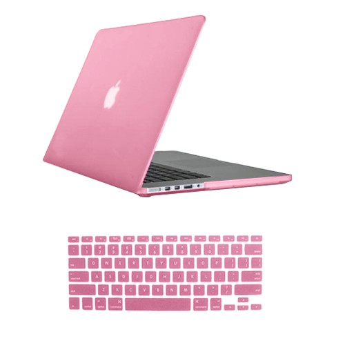 Rubberized Hard Case for MacBook Pro® 15 Retina Baby Pink