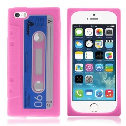 Silicone Soft Cassette Case for apple® iPhone® 5 5s - Pink