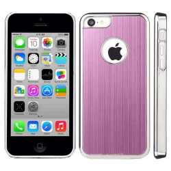 Luxury Aluminum Chrome Hard Case For Apple® IPhone® 5C Baby Pink