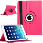 Rotating Magnetic Leather Smart case iPad® Air Hot Pink