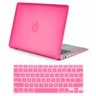Rubber Coated Hard Case for Macbook Air® 13 A1466 A1369 Hot Pink