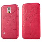 KLD Leather Wallet Flip Case for Samsung Galaxy S©5 Hot pink