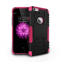 hybrid rugged two layer case for iPhone® 6 Pink
