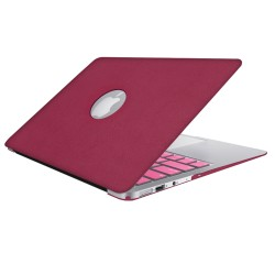 Leatherette Case With Keyboard Cover for Macbook Air 13 inch - Hot Pink