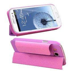 purple pu leather case cover for SAMSUNG Galaxy s©3
