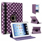 Polka Dots PU Leather Case For Apple® iPad® 4 Purple White