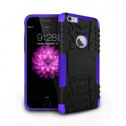 hybrid rugged two layer case for iPhone® 6 Purple